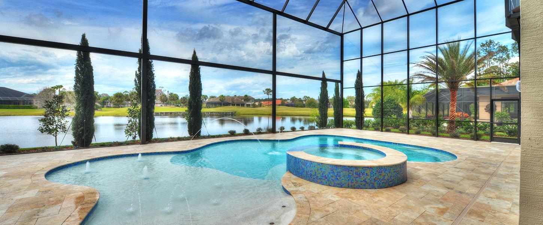 Custom Pool at Daytona Beach Home