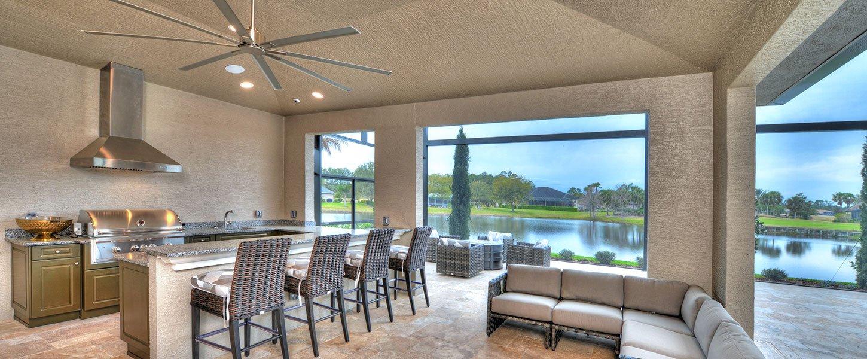 Datyona Beach Area Custom Home - The Elizabeth Outdoor Kitchen