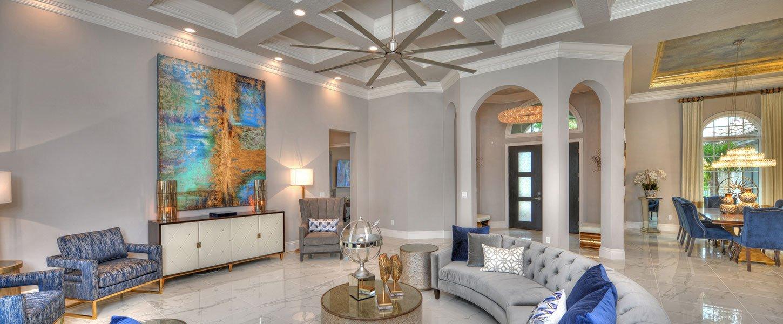 Datyona Beach Area Custom Home - The Elizabeth Living Room