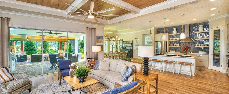 Custom Living Room in Datyona Beach Area Home