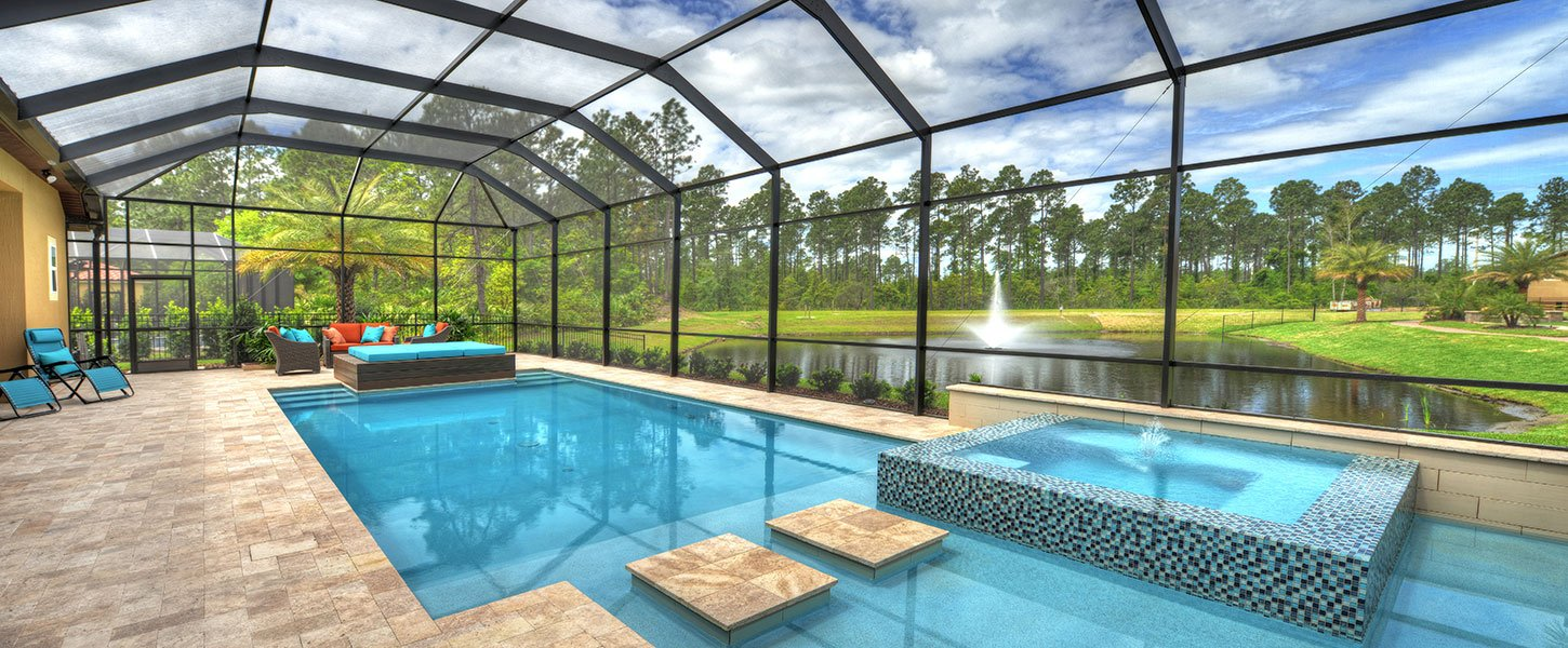 Custom Built Jacksonville Home Pool
