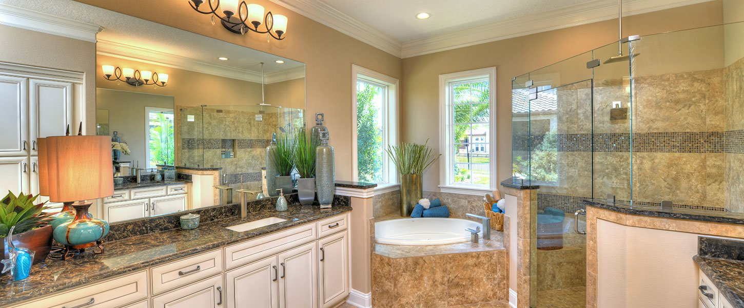 Custom Built Jacksonvile Home Master Bathroom