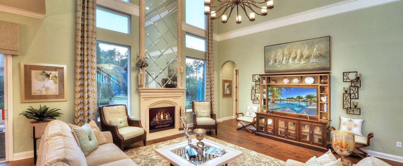 Jacksonville Custom Built Home Living Room