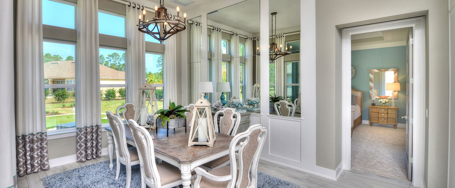 Dining Room in Custom Built Tampa Home
