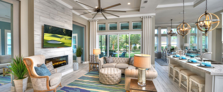 Tampa Custom Built Home Living Room