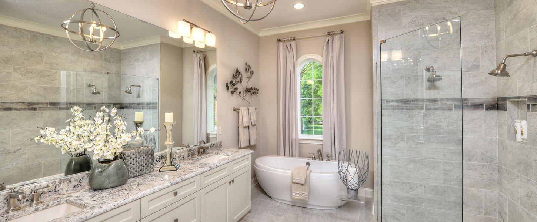 Master Bathroom in Custom Build Tampa Home