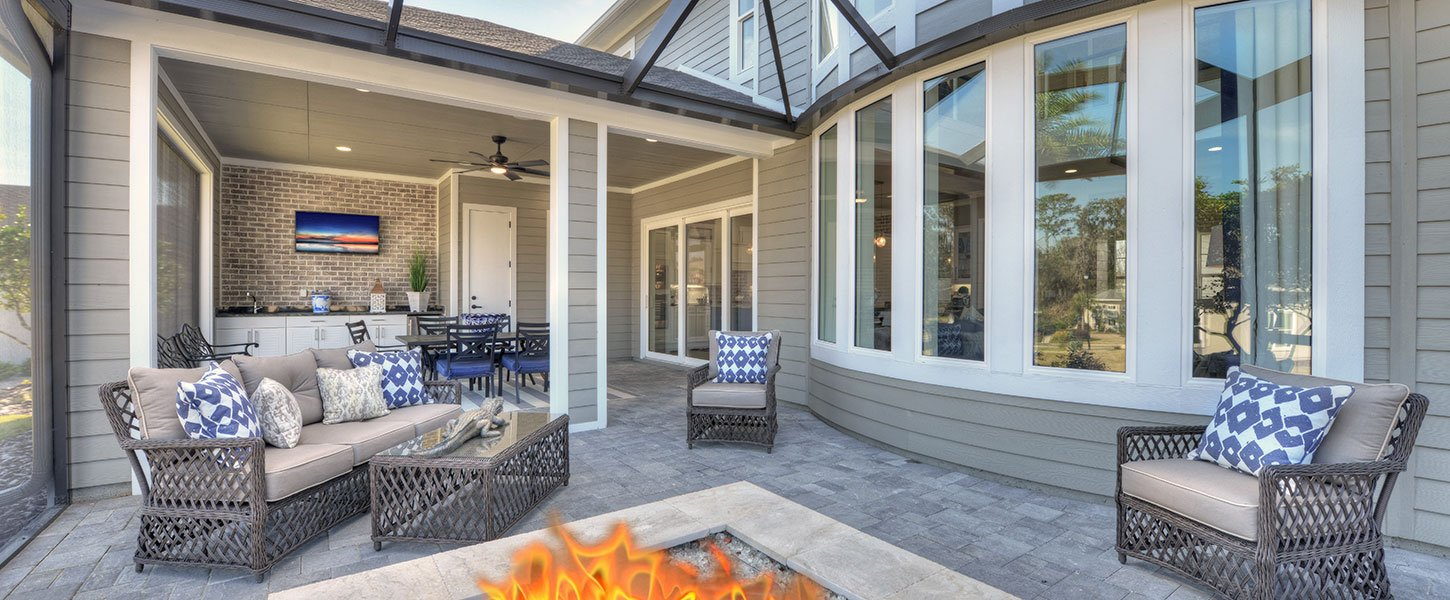 Outdoor Living in New Custom Built Tampa Home